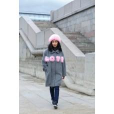 Пальто Words pink