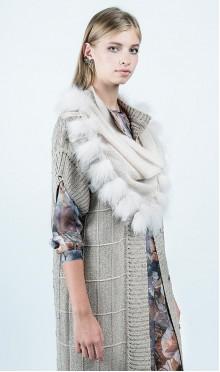 Косынка Fur fringe A3.2.17